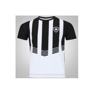 70cbf90c15 Camiseta do Botafogo Vision - Infantil - PRETO BRANCO Braziline