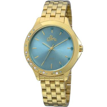 13001a34e3a Relógio Feminino Allora Analógico Fashion AL2035FBT 4A - Dourado