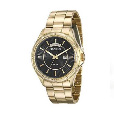 03c8c6db53b Relógio Seculus Feminino Analógico com Calendário Dourado 28913LPSVDS2