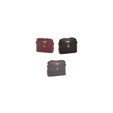 3x Multi-Propósito Mensageiro Bolsas De Ombro Bolsa Vinho Vermelho Preto Cinza