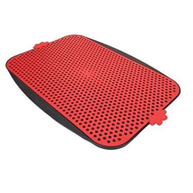 Pipi Dog Tapete Sanitário Pet Higiênico Lavavél Pequeno Medio Porte Vermelho