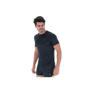 Camiseta Mizuno Run Spark 2 - Masculina - Azul Escuro Prata Mizuno b726c17969815