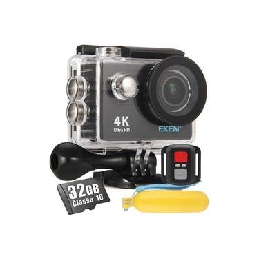 Câmera Filmadora Eken H9R 4K Wi-Fi+ Cartão 32gb Bastão Flutuante Boia Controle Remoto Moto Bike Surf Mergulho Esportiva