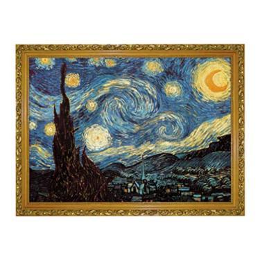 Imagem de Toyvian Quebra-cabeças Noite Estrelada 1000 peças de pintura a óleo Van Gogh quebra-cabeça para crianças adultos