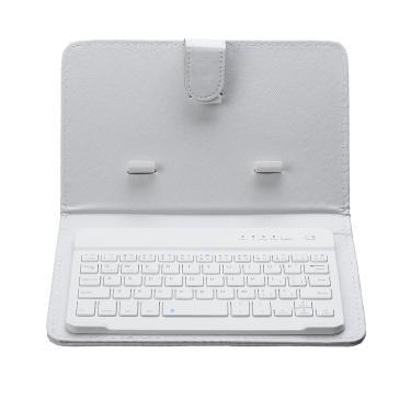 Teclado portátil sem fio de couro pu bluetooth Caso titular para tablet smartphone Banggood