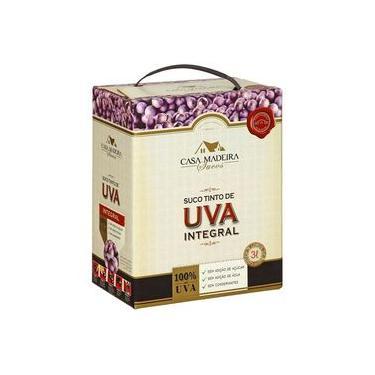 Suco de Uva Integral Casa Madeira Bag In Box 3L