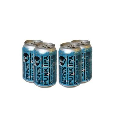 Pack 4 Cervejas Escocesa Brewdog Punk Ipa Lata 330ml