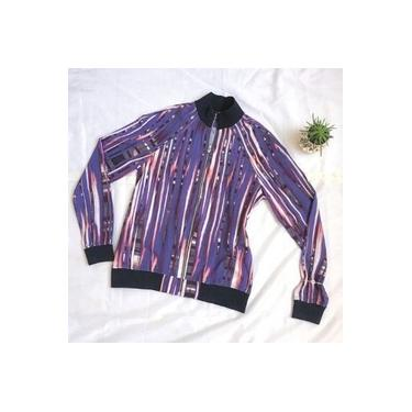 Jaqueta Estampada Roxo P Ammis