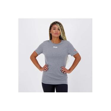 Camiseta Fila Sunprotect Cinza
