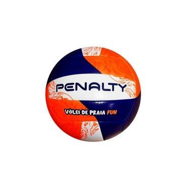 Bola de Vôlei Praia Penalty Fun 21 Azul com Laranja