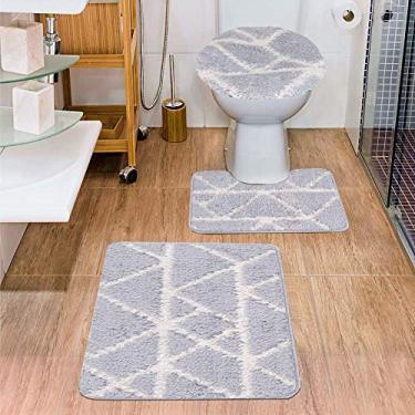 Imagem de Jogo de Tapetes para Banheiro 3 Peças Jolitex Urban Cairo