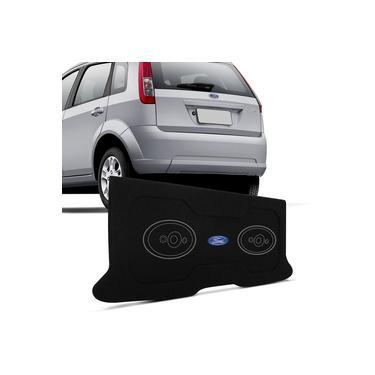 Tampão Porta Malas Fiesta Hatch 2003 a 2011 Carpete Grafite Furos 6x9 Bagagito Fácil Instalação