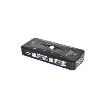 Switch Chaveador Kvm 4 Portas Vga E USB Kvm41ua Novo!
