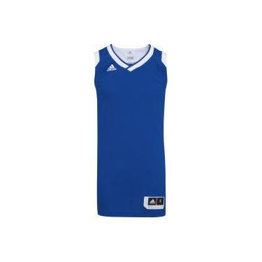 46ebed56e5 Camiseta Regata adidas Teamstock - Masculina - AZUL BRANCO adidas