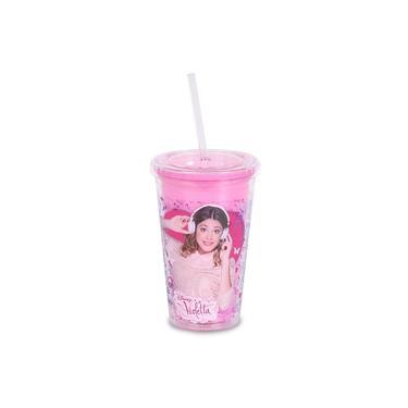 Copo com canudo Violetta Disney 450ml 02181