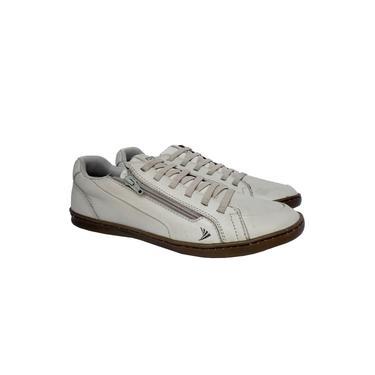 Sapatênis Fork Sapato Masculino Gelo Couro Ajuste Elástico