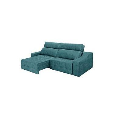 Sofa Retratil Azul Shoptime Moveis E Decoracao Comparar Preco De
