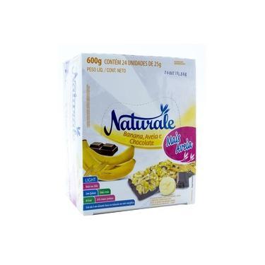 Barra de Cereal Naturale Banana, aveia e chocolate light 24x25g