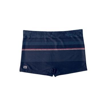 Sunga Boxer Hang Loose Listras c/ Textura Azul
