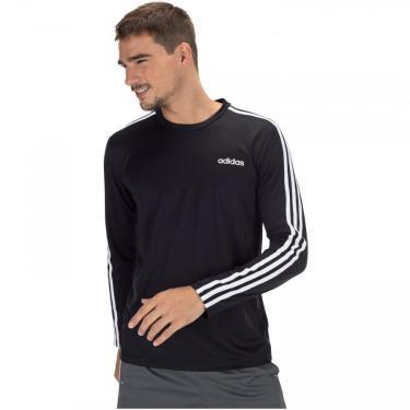 Camiseta Manga Longa adidas D2M CLM 3S - Masculina adidas Masculino
