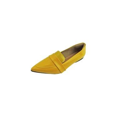 Mocassim Verniz - Amarelo
