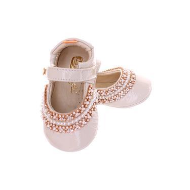 Sapato Boneca Mogly Verniz Marfim