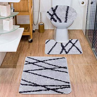 Imagem de Jogo de Tapetes para Banheiro 3 Peças Jolitex Urban Nova York