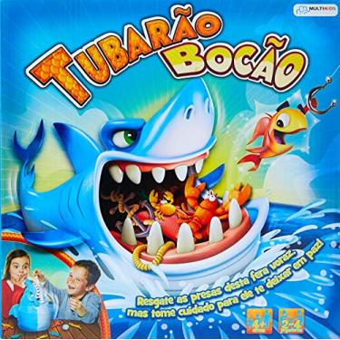 Imagem de Jogo Tubarão Bocão com 12 Peixes - Br753 Multikids Azul