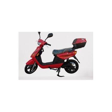 Imagem de Bicicleta moto elétrica Taim 350w vermelha com baú