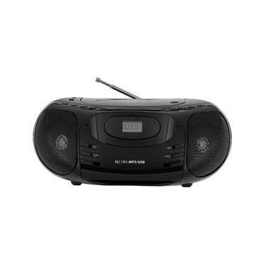 Som Portátil Philco PB119N MP3 USB Rádio FM Bivolt - Preto