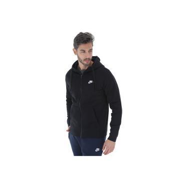 2abded5ce65 Jaqueta de Moletom com Capuz Nike Hoodie FZ FLC Club - Masculina - PRETO  Nike