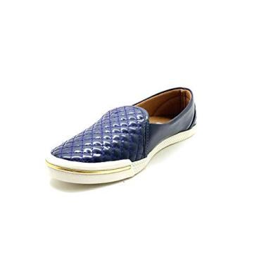 Sapatos Femininos Slip On Slipper Marinho Dani K Tamanho:40;Cor:Azul