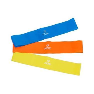 Kit de Elásticos Mini Bands com 3 Intensidades - Acte Sports T71