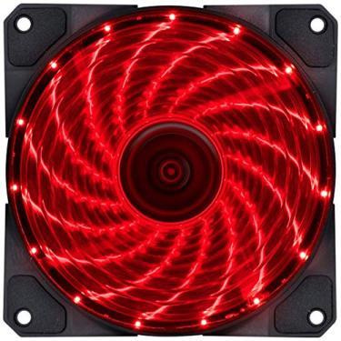 FAN/COOLER VX GAMING V.LUMI 15 PONTOS DE LED 120X120 VERMELHO, VINIK, 29562