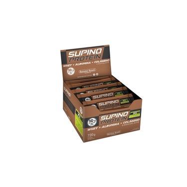 Imagem de Barra de Proteína Supino Protein sabor Chocolate display com 12 barras de 30g - Banana Brasil