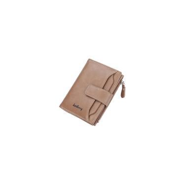 Carteira baellerry masculina com zíper curto porta-cartões cáqui