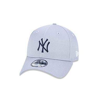 037d2661634c0 BONE 940 NEW YORK YANKEES MLB ABA CURVA SNAPBACK CINZA NEW ERA