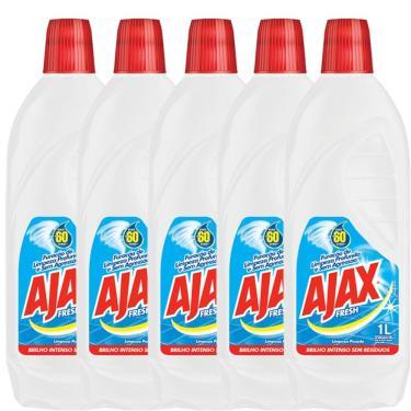 Kit com 5 Limpador Diluível Ajax Fresh 1L Cada