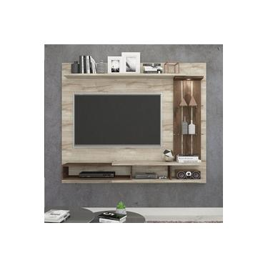 Painel para TV até 55 Polegadas com LED Vitória Permobili Rústico/Café