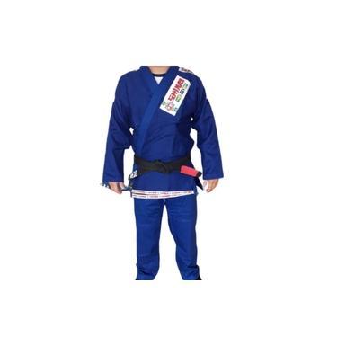 Kimono Jiu Jitsu Azul Reforçado Standart Shiroi