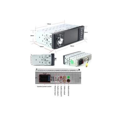 MP5 Player Multimídia Com Tela de 4' Som Automotivo, Auto Radio Bluetooth, FM, USB