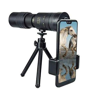 Imagem de Xiaomu Telescópio Monocular Com Zoom Supertelefoto, 4k 10-300x40mm Hd Dual Focus Monóculo à Prova De Embaçamento Para Baixa Visão Noturna Com Suporte Para Smartphone E Tripé