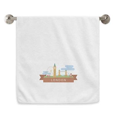 Imagem de DIYthinker Toalha de mão London Bridge UK Big Ben The London Eye Toalha de banho de algodão macio