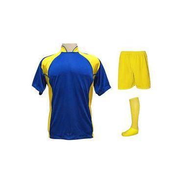 8f6c49a4ce Uniforme Esportivo Completo modelo Suécia 14+1 (14 camisas Royal Amarelo +  14
