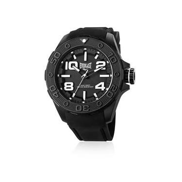 4adfa0d3951 Relógio Everlast Masculino Force E617 Caixa ABS e Pulseira Silicone Preta