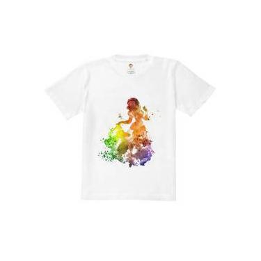 Camiseta Infantil Princesa Splash Branca De Gelo