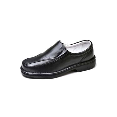 Sapato Social Masculino De Conforto Anatomico Ortopedico E Super Flexivel Preto