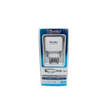 Kit Carregador Micro-USB V8 Kingo 1.2A 5V p/ Galaxy A7 2018