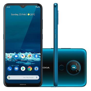 Smartphone Nokia 5.3 Nk009 Tela 6.5' Android 4Gb Ram Verde Ciano