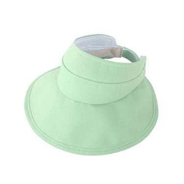PRETYZOOM Chapéu de sol esportivo escalada sem topless chapéu de praia dobrável para pais - chapéu de criança (estilo adulto verde claro) Suprimentos para chapéu de sol de verão